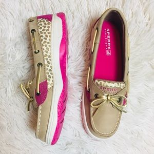SPERRY Angelfish Pink Polka Dot Boat Shoes